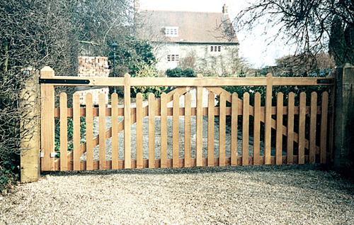 Concave Wooden Gate